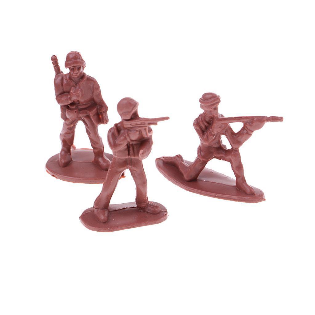 100x-Soldaten-Figur-Modell-Spielzeug-Kinder-Jungen-Modelle-Kits-Militaer-Armee Indexbild 3