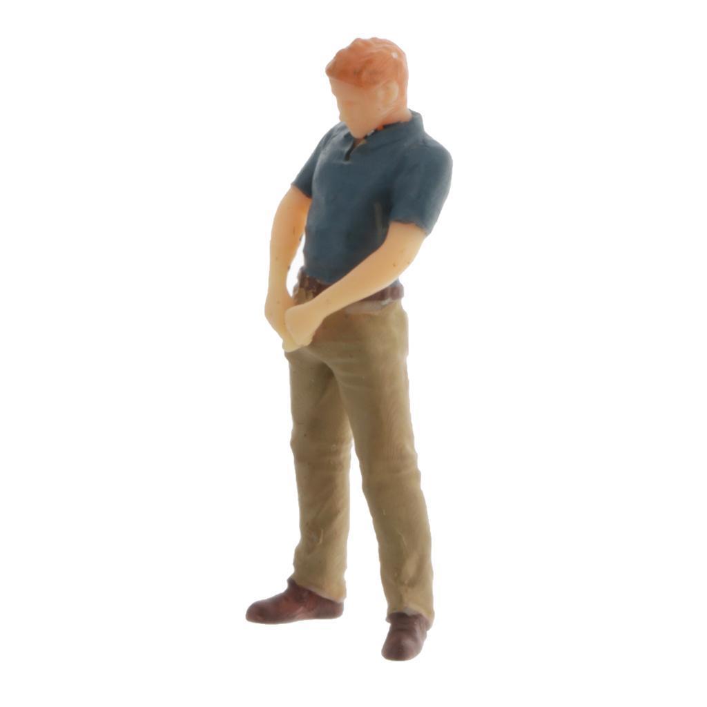 miniature 8 - 1/64 Homme Simulation Figurines Modèles Miniatures Cadeaux Bricolage pour