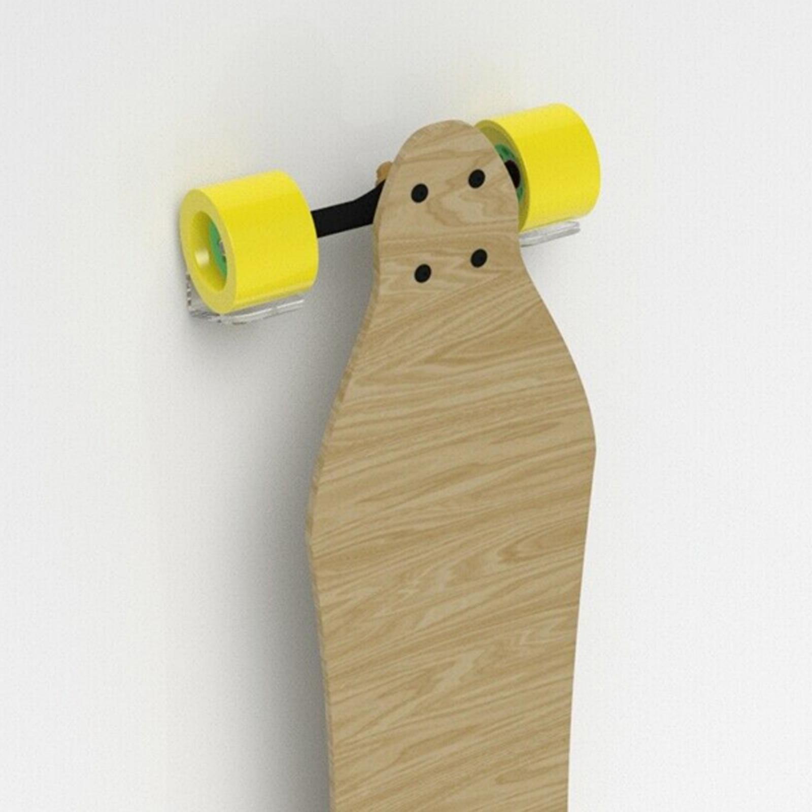 Espositore-appendiabiti-per-montaggio-a-parete-per-Skateboard-in-acrilico miniatura 11