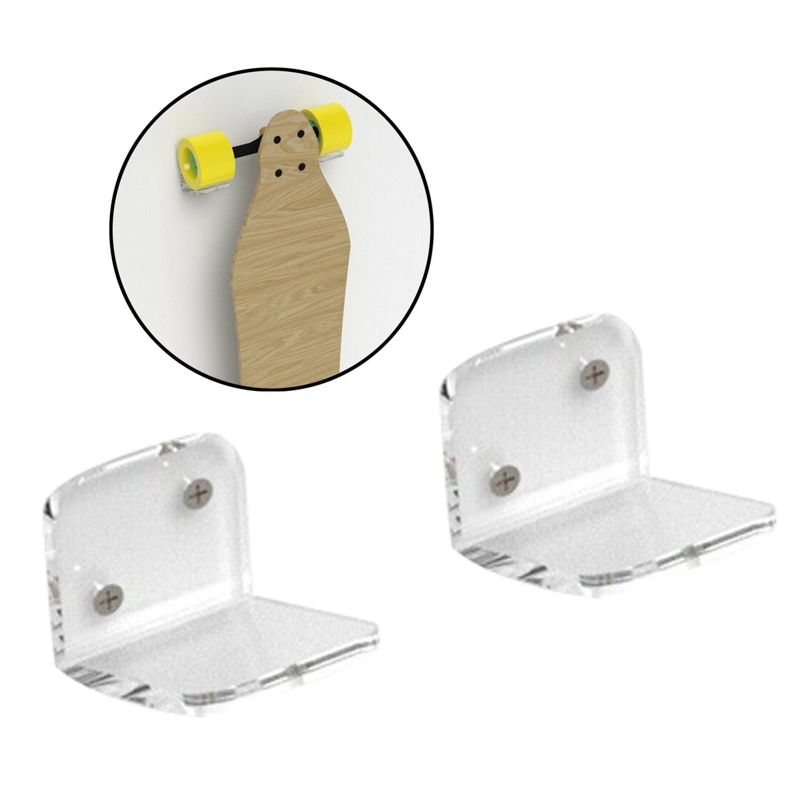 Espositore-appendiabiti-per-montaggio-a-parete-per-Skateboard-in-acrilico miniatura 5