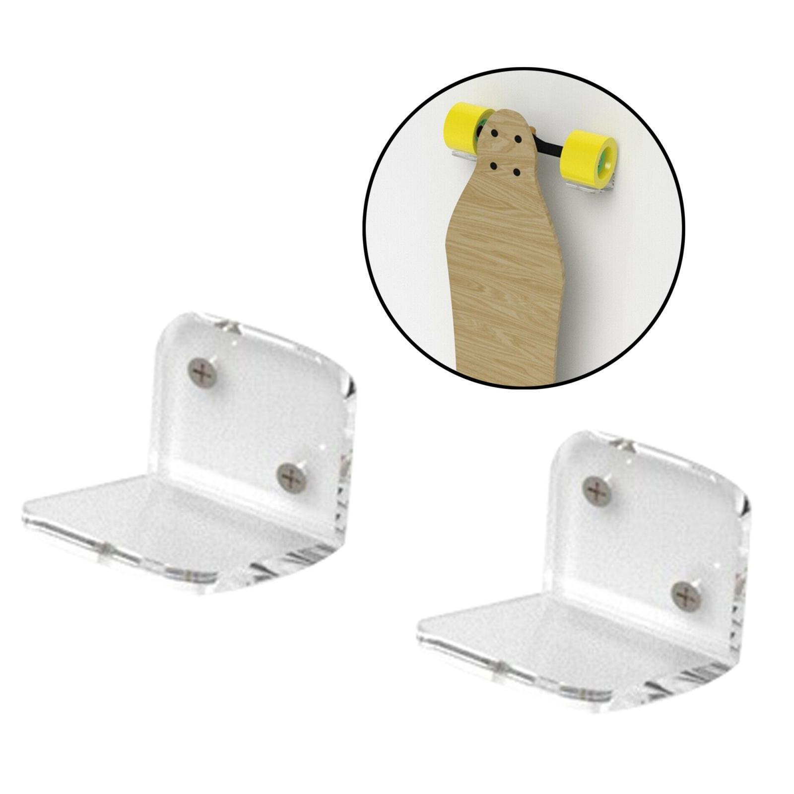 Espositore-appendiabiti-per-montaggio-a-parete-per-Skateboard-in-acrilico miniatura 6