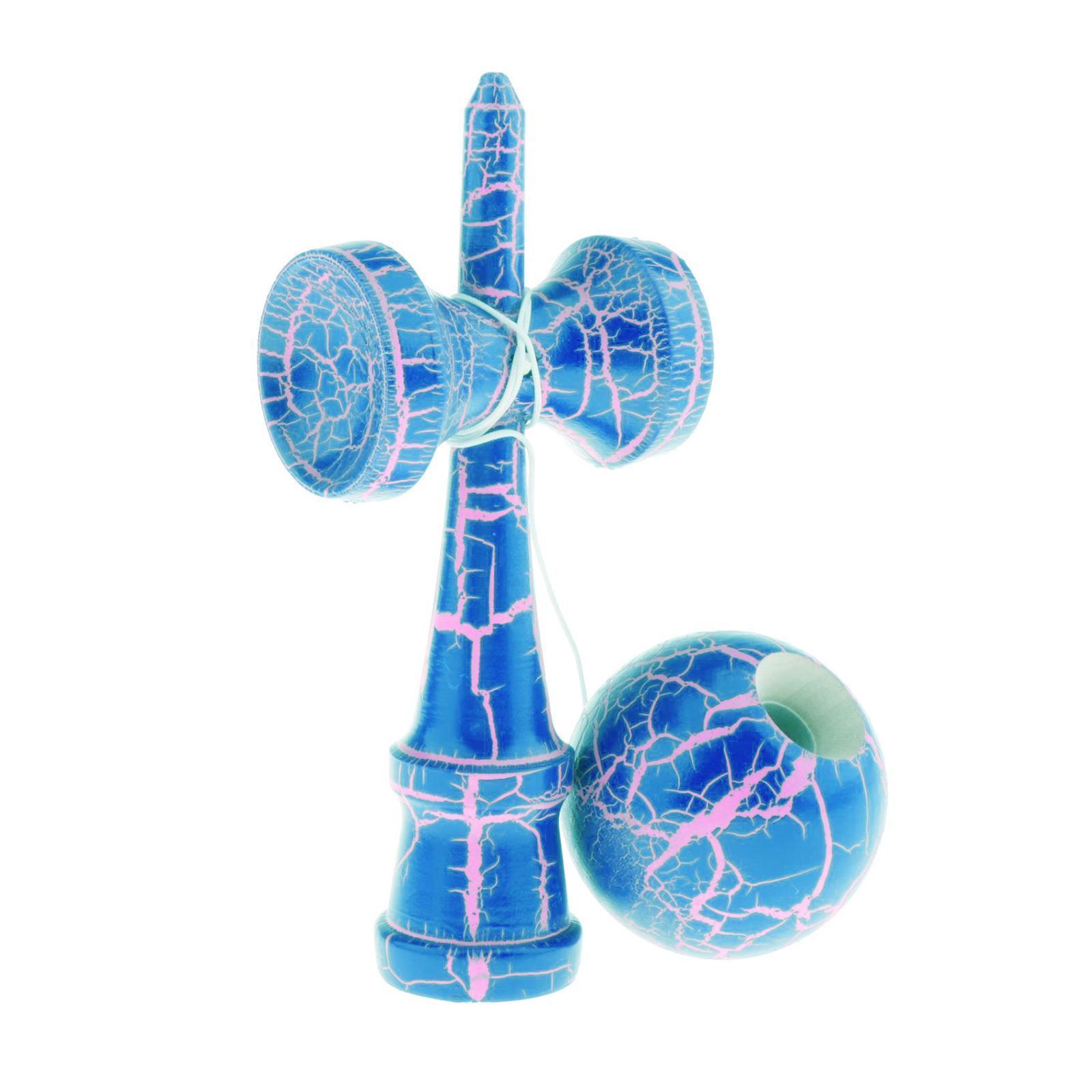 Wooden Kendama Balls Balance Skill Toys Colorful Crack Beech Wood Surface Kids