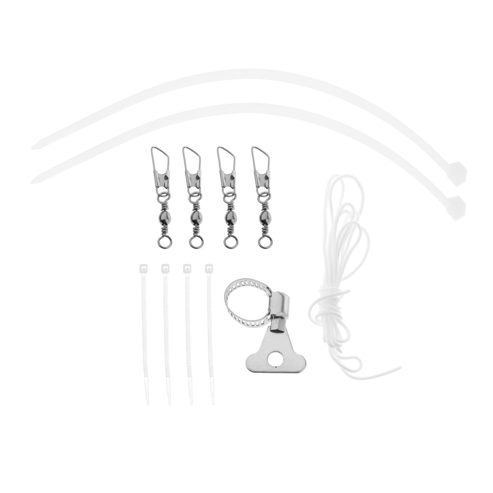 Indexbild 7 - Fahnenmast Hardware Teile Reparatur Halyard Seil Und 4 PCS Metall Haken Clips