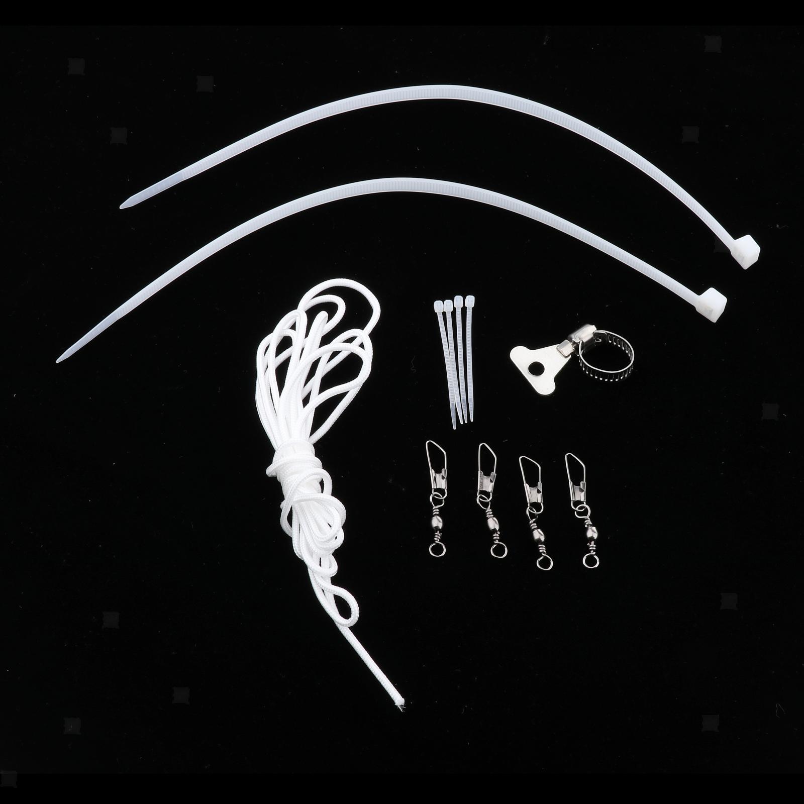 Indexbild 10 - Fahnenmast Hardware Teile Reparatur Halyard Seil Und 4 PCS Metall Haken Clips