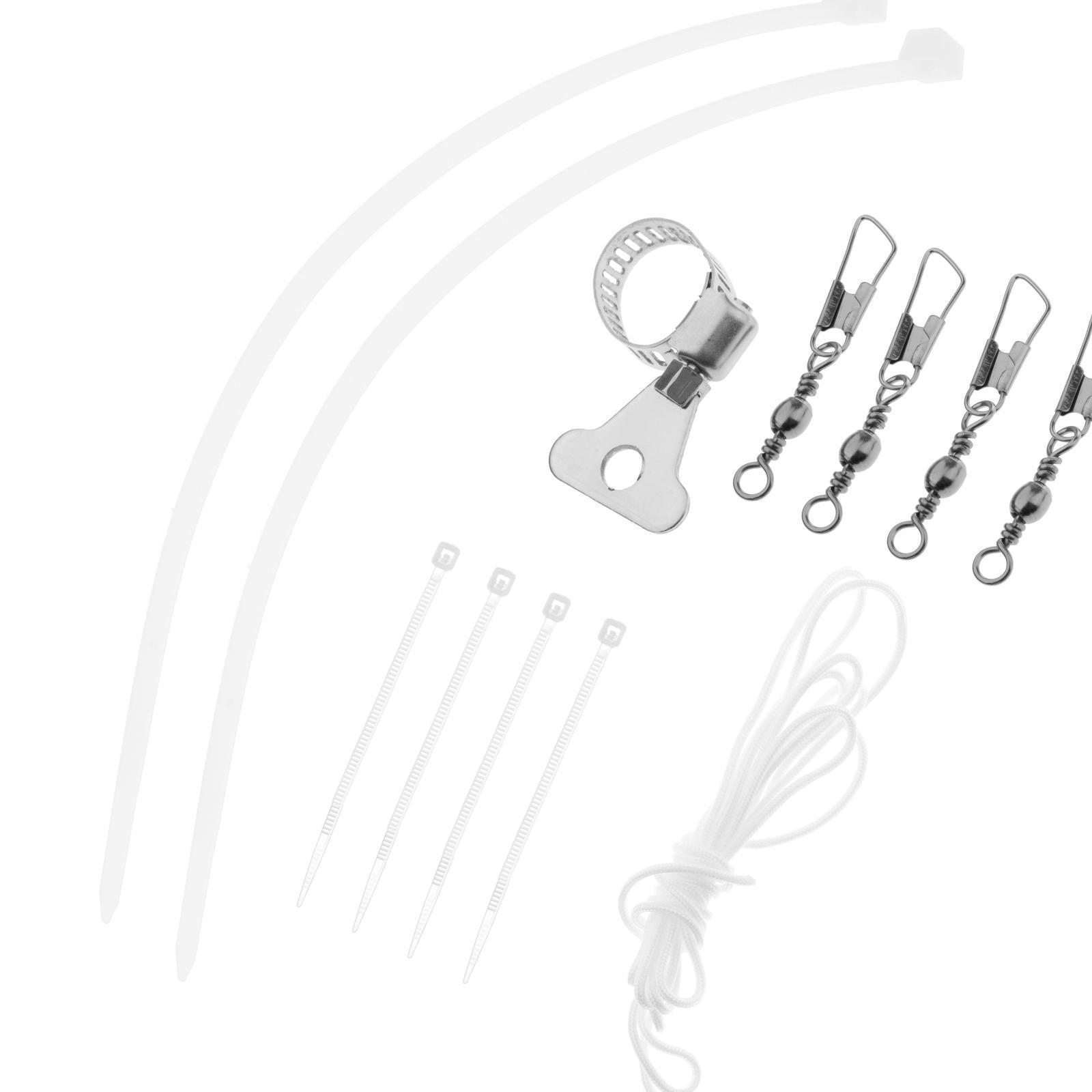 Indexbild 3 - Fahnenmast Hardware Teile Reparatur Halyard Seil Und 4 PCS Metall Haken Clips