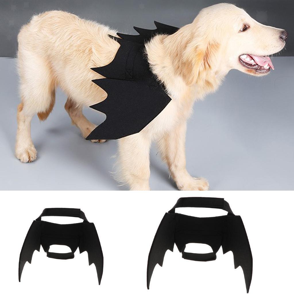 Halloween-Costume-per-cani-Costume-Ali-di-pipistrello-per-cane-Gatto miniatuur 3
