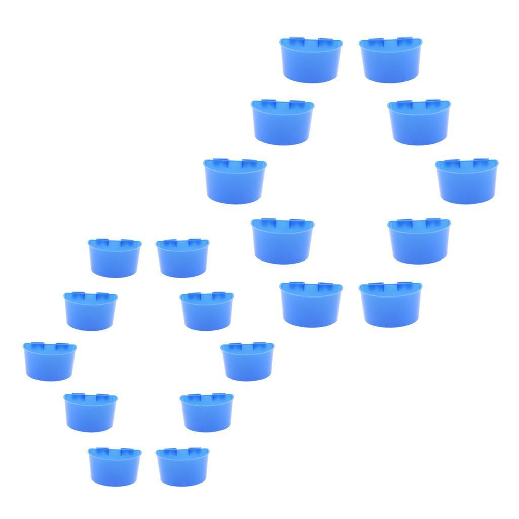thumbnail 3 - 10 Pcs Poultry Pigeon Feeder Cups Drinker Bowls Plastic Food Water L/S Size