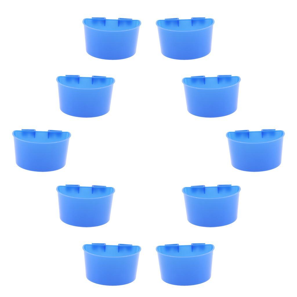 thumbnail 3 - 10 Pcs Bird Pigeon Feeder Cups Bowls Plastic Food Water Sand Cups L/S Size
