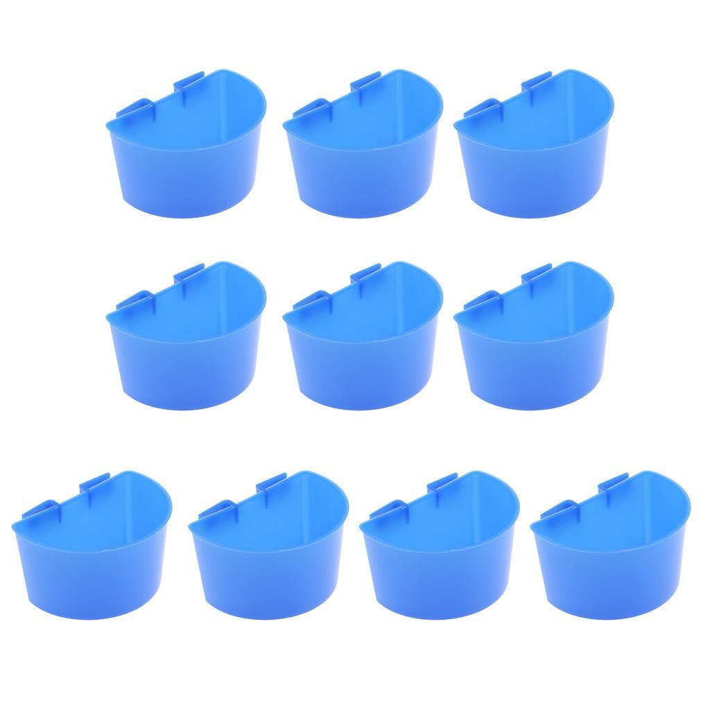 thumbnail 4 - 10 Pcs Poultry Pigeon Feeder Cups Drinker Bowls Plastic Food Water L/S Size