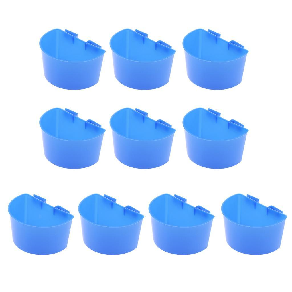 thumbnail 6 - 10 Pcs Bird Pigeon Feeder Cups Bowls Plastic Food Water Sand Cups L/S Size