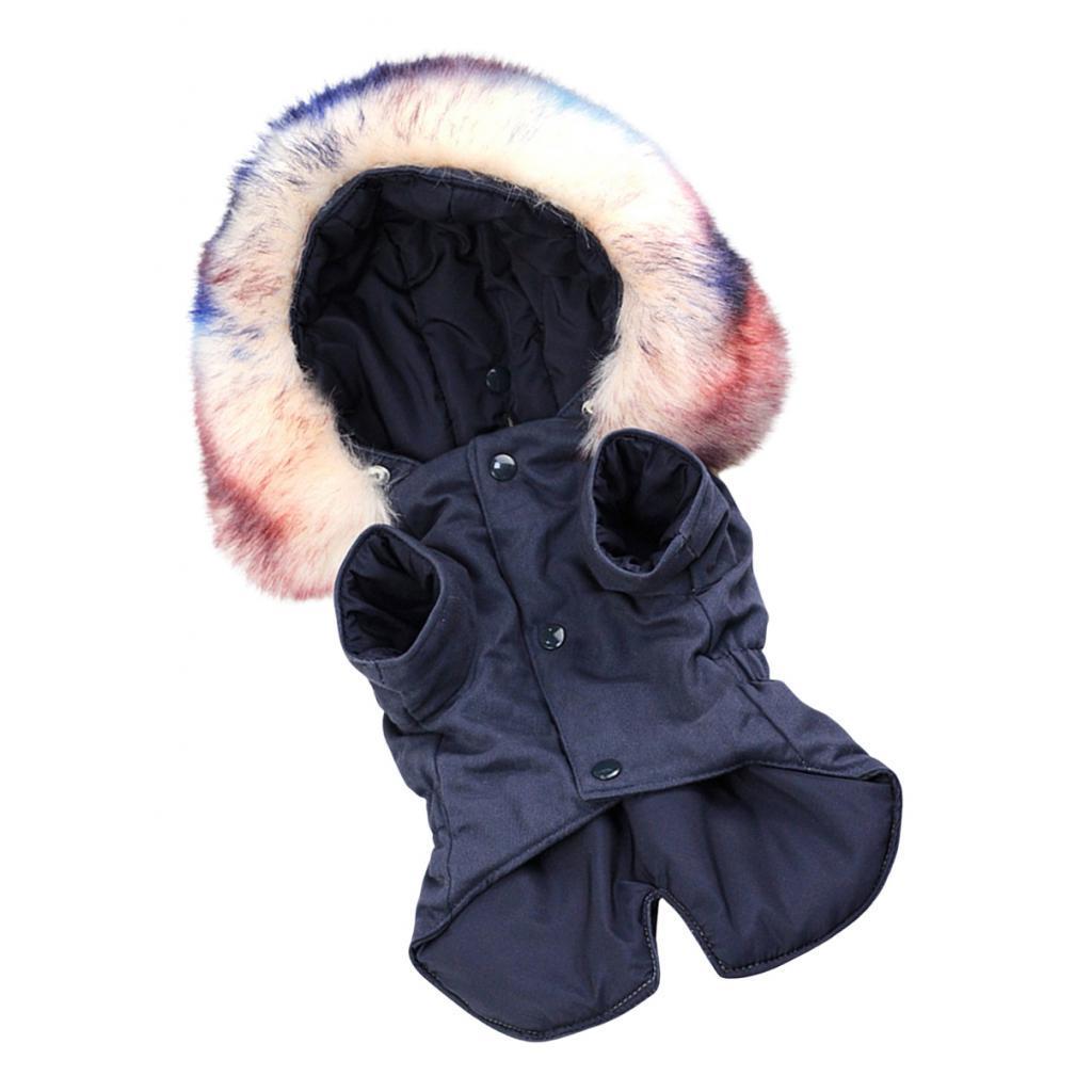 Elegant-Dog-Coat-Woolen-Fur-Collar-Puppy-Pet-Clothes-Winter-Warm-Jacket thumbnail 8