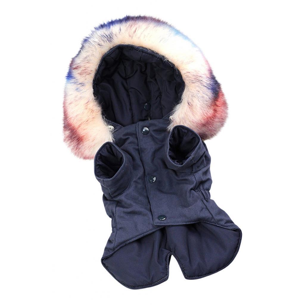 Elegant-Dog-Coat-Woolen-Fur-Collar-Puppy-Pet-Clothes-Winter-Warm-Jacket thumbnail 10