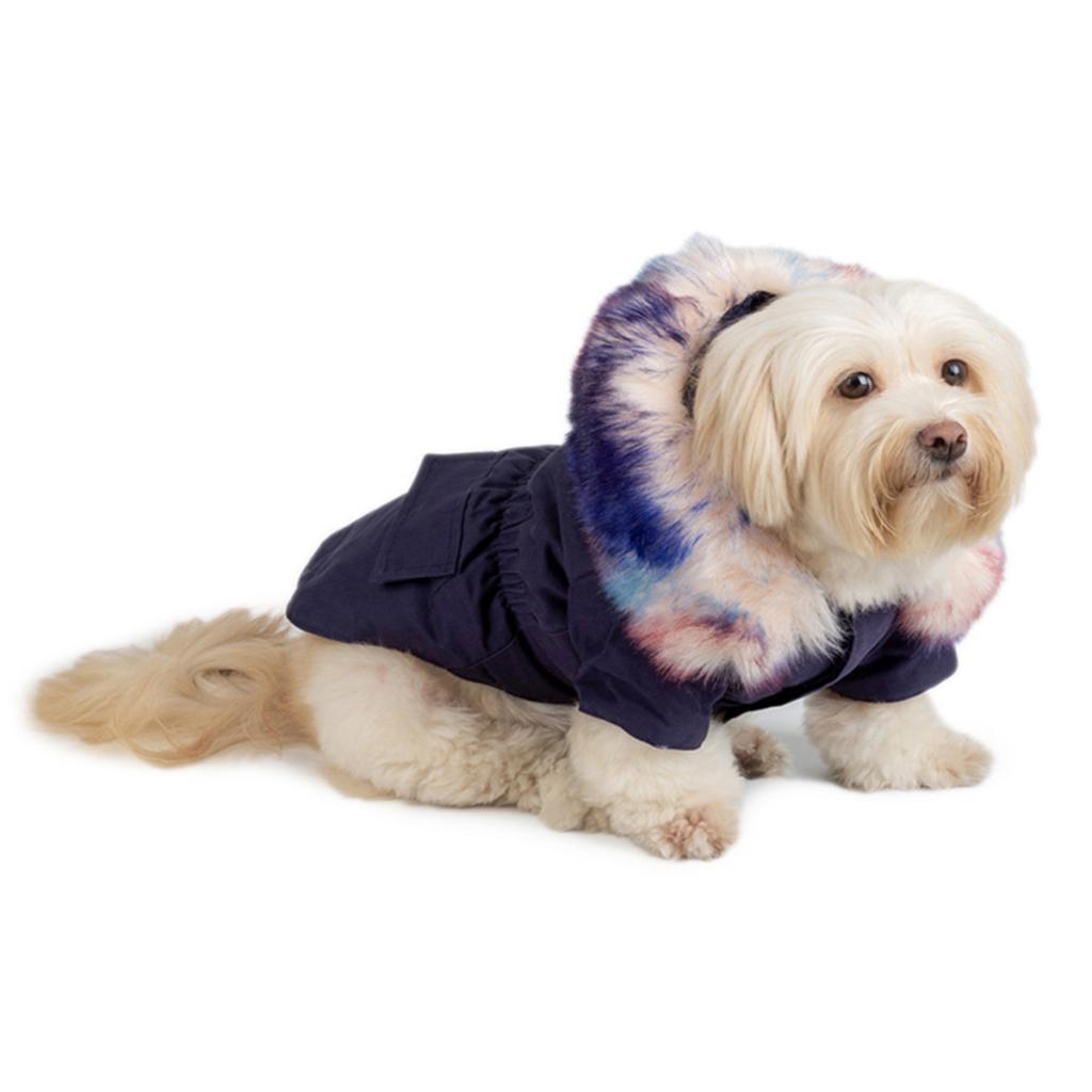Elegant-Dog-Coat-Woolen-Fur-Collar-Puppy-Pet-Clothes-Winter-Warm-Jacket thumbnail 9