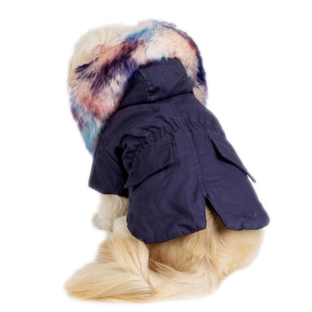 Elegant-Dog-Coat-Woolen-Fur-Collar-Puppy-Pet-Clothes-Winter-Warm-Jacket thumbnail 11