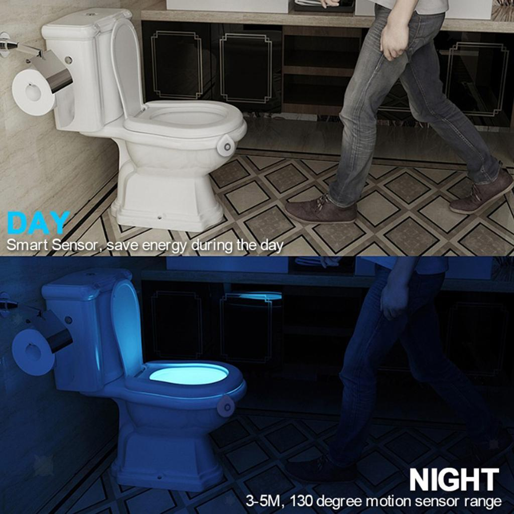 WC-Ciotola-di-Luce-di-Notte-Retroilluminazione-A-LED-Intelligente-di-Movimento miniatura 25