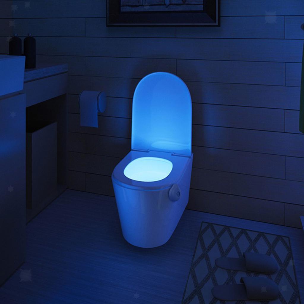 WC-Ciotola-di-Luce-di-Notte-Retroilluminazione-A-LED-Smart-Sensori-di-Movimento miniatura 24