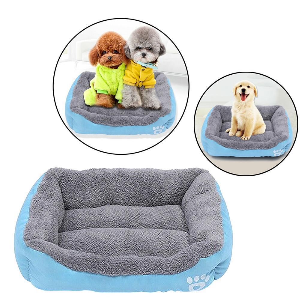 miniature 10 - Doux en peluche lit pour animaux de compagnie chien chat coussin de couchage
