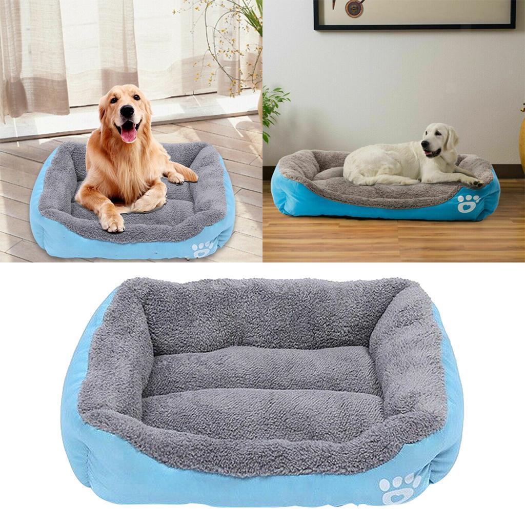 miniature 9 - Doux en peluche lit pour animaux de compagnie chien chat coussin de couchage