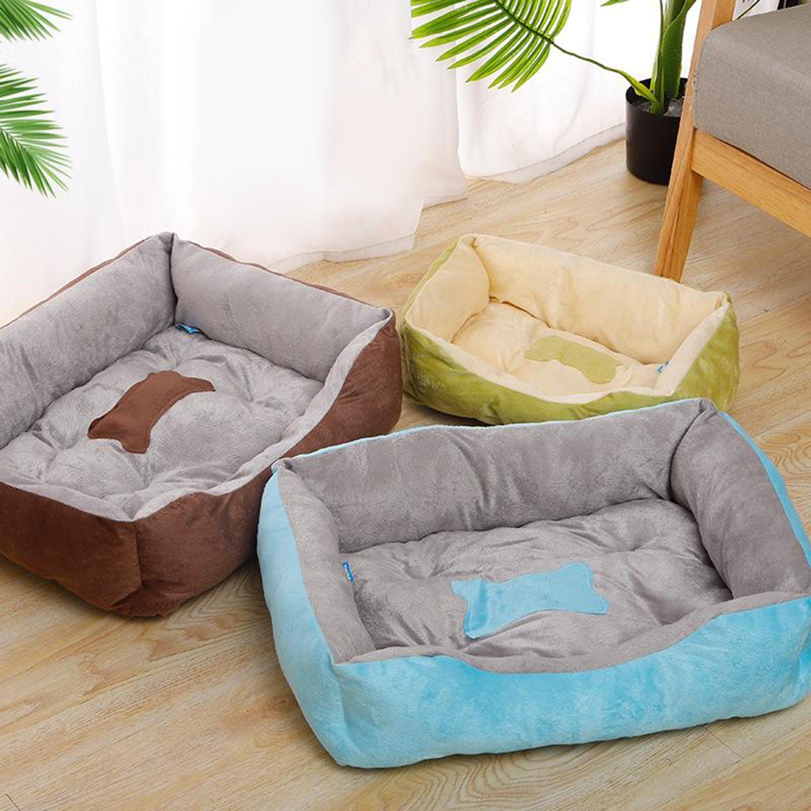 Indexbild 22 - Katze-Hund-Bett-Pet-Kissen-Betten-Haus-Schlaf-Soft-Warmen-Zwinger-Decke-Nest