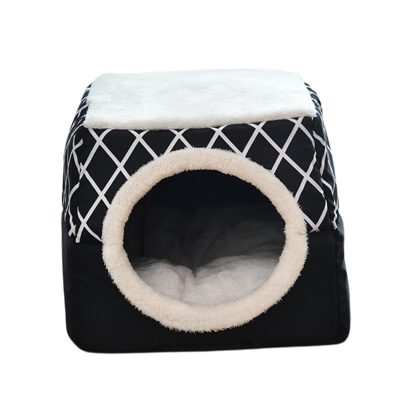 Indexbild 32 - 2-in-1-Weichen-Katzen-Haus-Schlafen-Bett-Zwinger-Puppy-Cave-Warme-Nest-Matte
