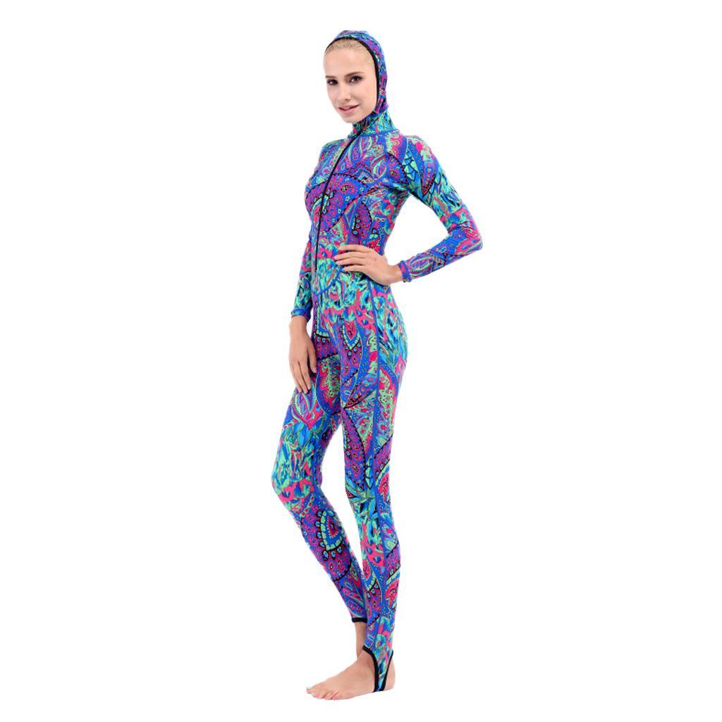 Surf Freedive Full Body Wetsuit Diving Skin Suit Rashguard Swimwear for Women