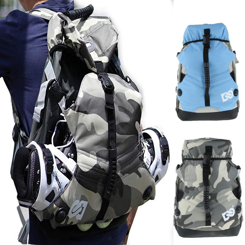 Inline-Skates-Backpack-Men-Women-Adjustable-Roller-Skates-Carry-Shoulder-Bag thumbnail 16