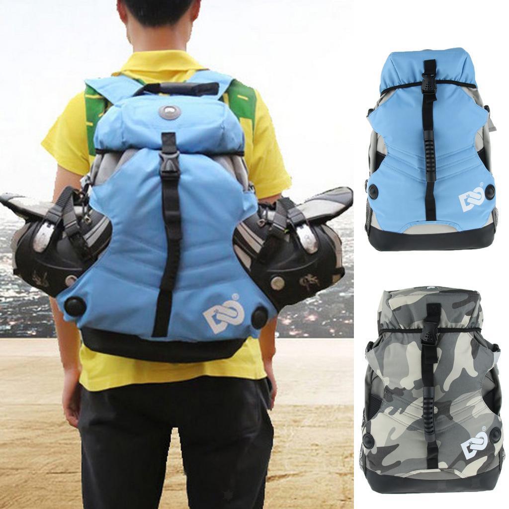 Inline-Skates-Backpack-Men-Women-Adjustable-Roller-Skates-Carry-Shoulder-Bag thumbnail 18