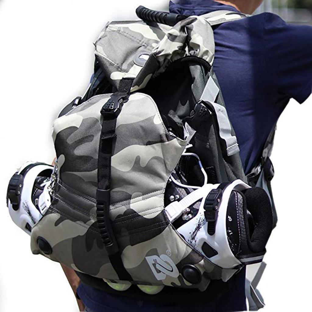 Inline-Skates-Backpack-Men-Women-Adjustable-Roller-Skates-Carry-Shoulder-Bag thumbnail 12