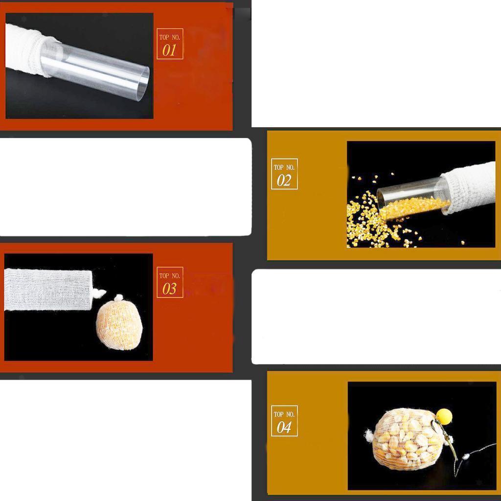 Indexbild 12 - PVA-Karpfen-Fischkoeder-Net-Wasserloesliche-Nachfuellung-Strumpf-Mesh-Bag-fuer