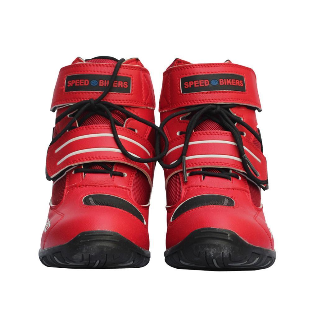 1-PAIA-CORTO-MOTO-Protezione-Caviglia-Stivali-Scarpe-Antiscivolo-Sports miniatura 15