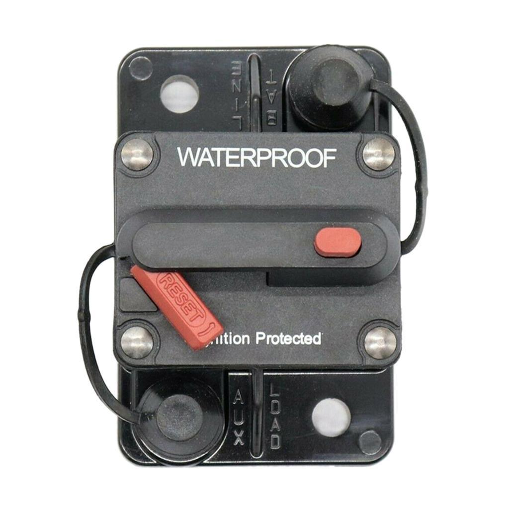 2x 250A Amp Car Audio Circuit Breaker Manual Reset Auto 12V//32V DC Fuse Holder
