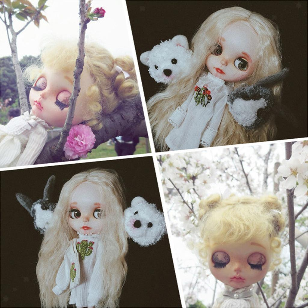 Doll-Soft-Head-Scalp-Hard-Shell-per-12-034-Takara-RBL-Blythe-Doll-Rooting-Hair-Fai miniatura 6