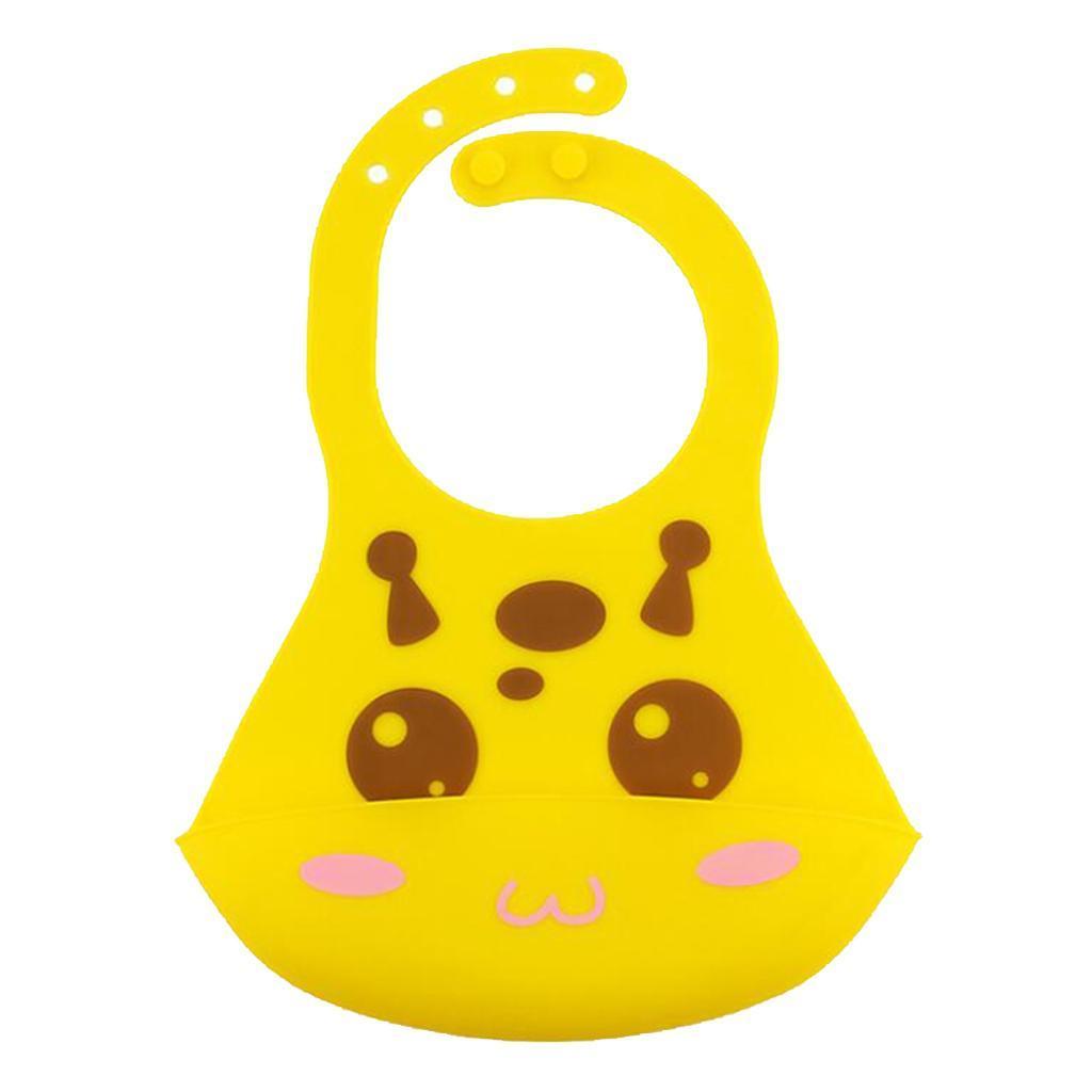 Bavoirs-de-bebe-en-silicone-impermeables-avec-poche-de-capture-de miniature 6
