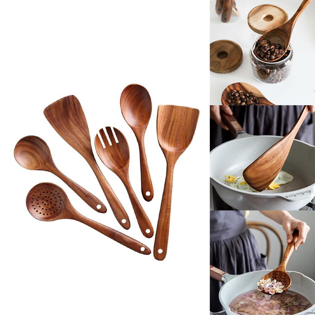miniatura 4 - Cucchiai di legno Riutilizzabile Utensili Da Cucina Strumenti per la Cottura