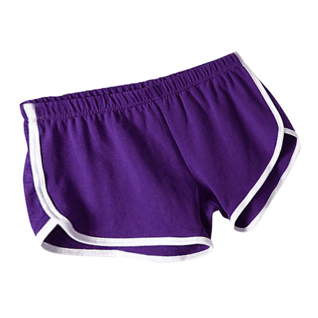 Shorts-de-sport-en-soie-de-lait-pour-femmes-Yoga-Dance-Pantalons-courts-Shorts miniature 18