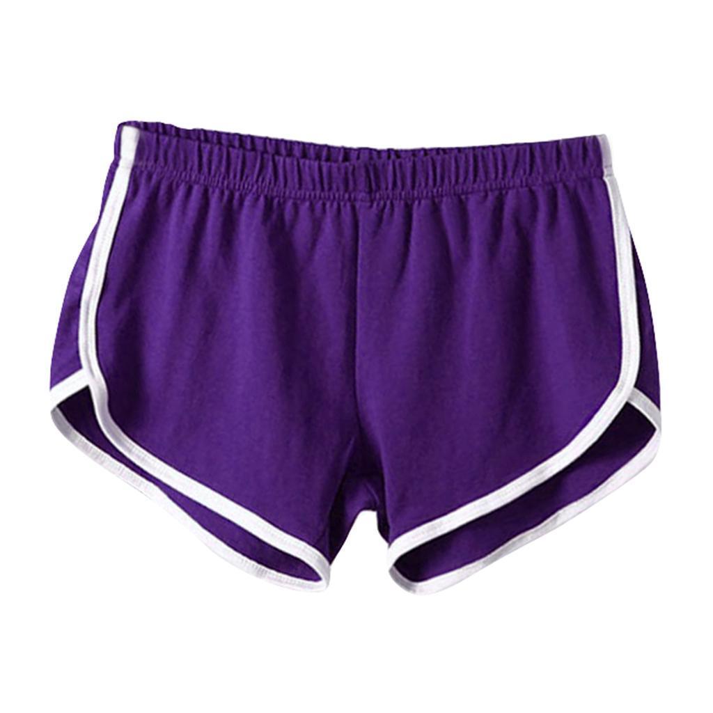 Shorts-de-sport-en-soie-de-lait-pour-femmes-Yoga-Dance-Pantalons-courts-Shorts miniature 17