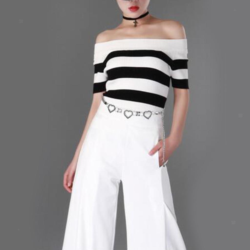Adjustable-Lady-Love-Heart-Diamante-Dress-Waist-Belt-Chain-Skinny-Waistband thumbnail 4