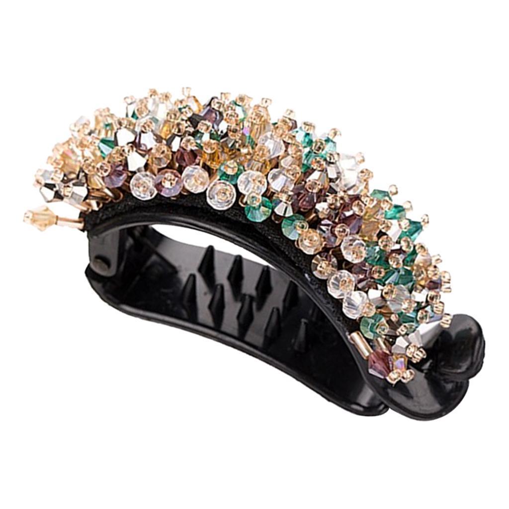Femmes-Diamante-Cheveux-Barrette-Clip-Griffe-Ponytail-Holder-Cheveux-Accessoires miniature 10