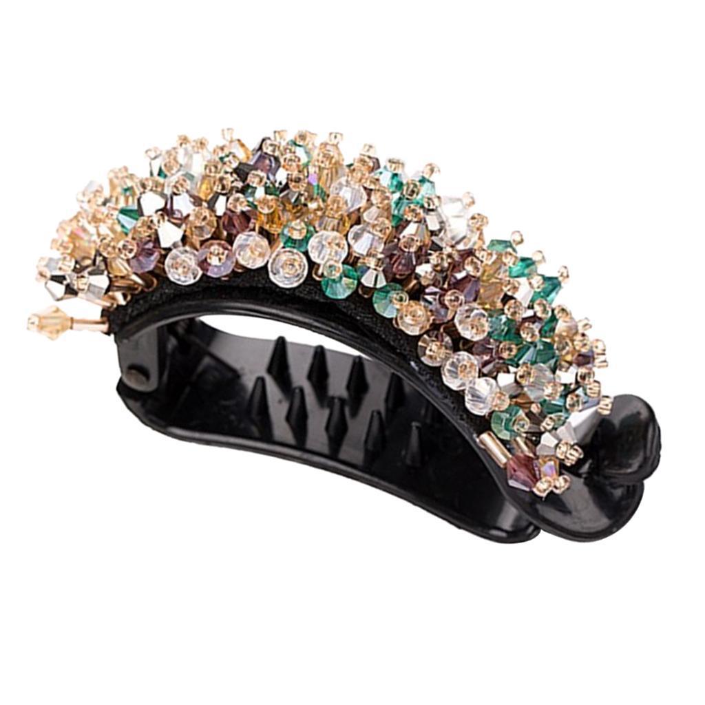 Femmes-Diamante-Cheveux-Barrette-Clip-Griffe-Ponytail-Holder-Cheveux-Accessoires miniature 9