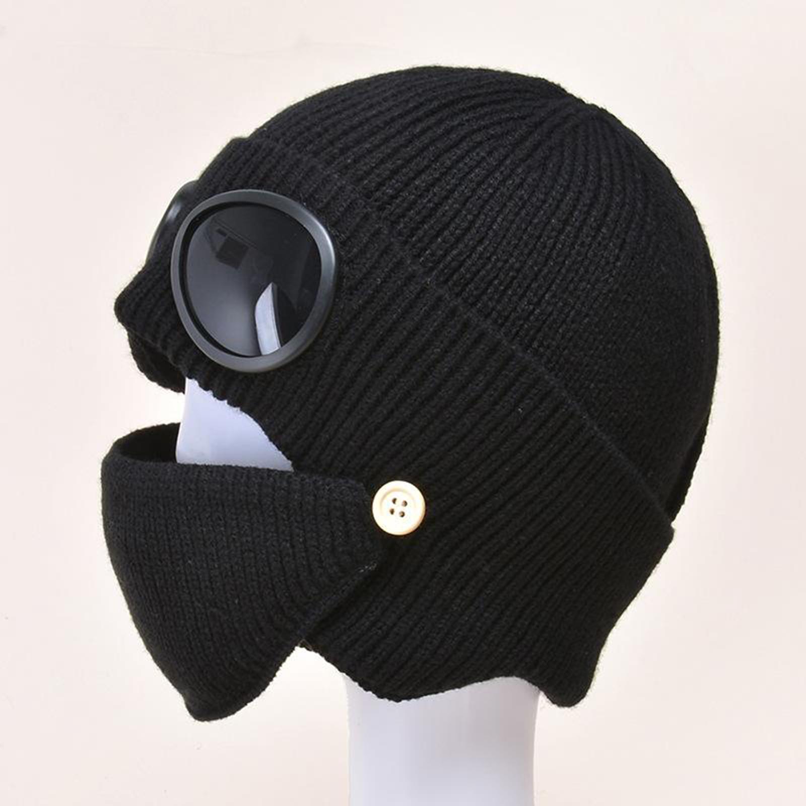 miniature 11 - Masque de tête de visage hiver bonnet chaud avec lunettes casquette d'oreille