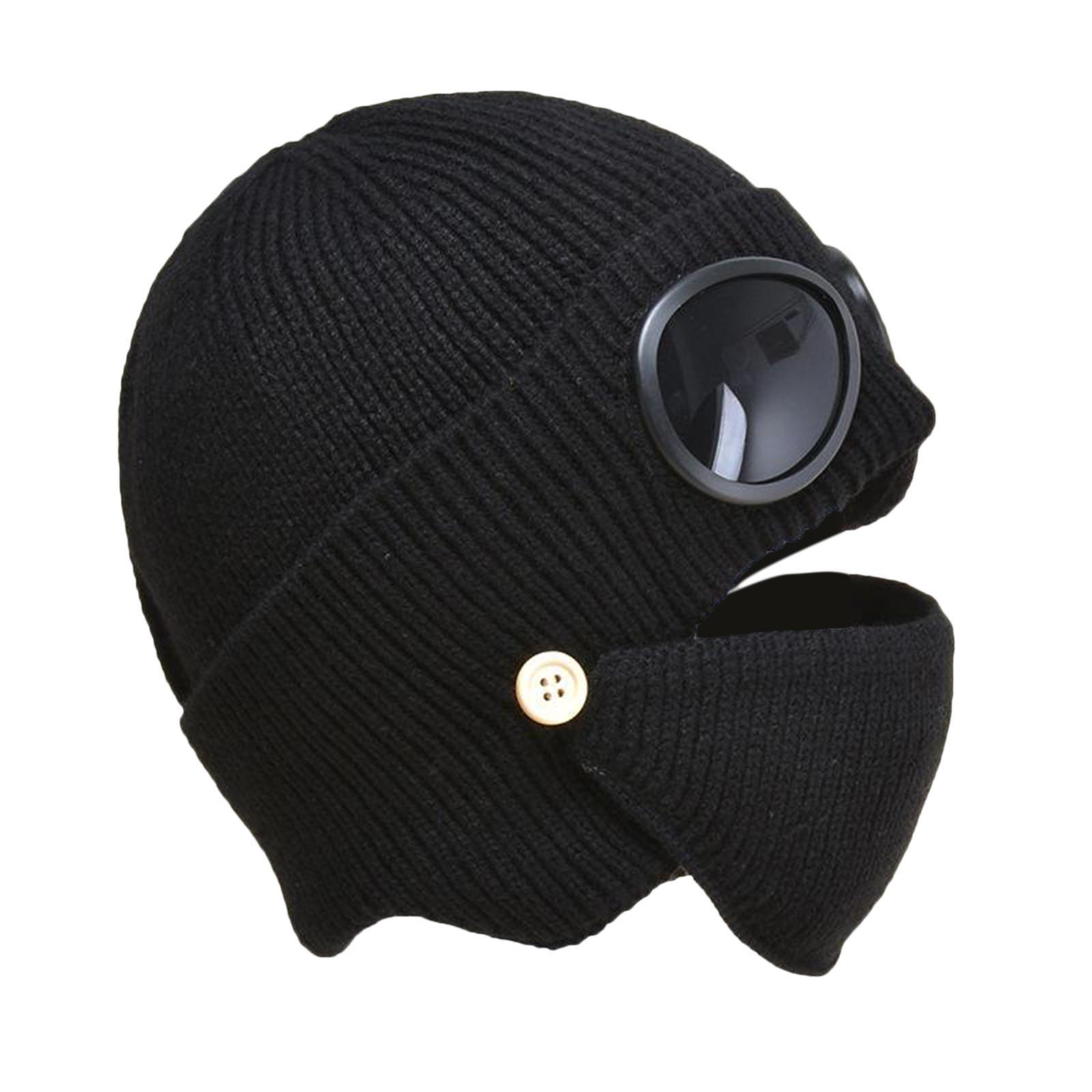 miniature 9 - Masque de tête de visage hiver bonnet chaud avec lunettes casquette d'oreille