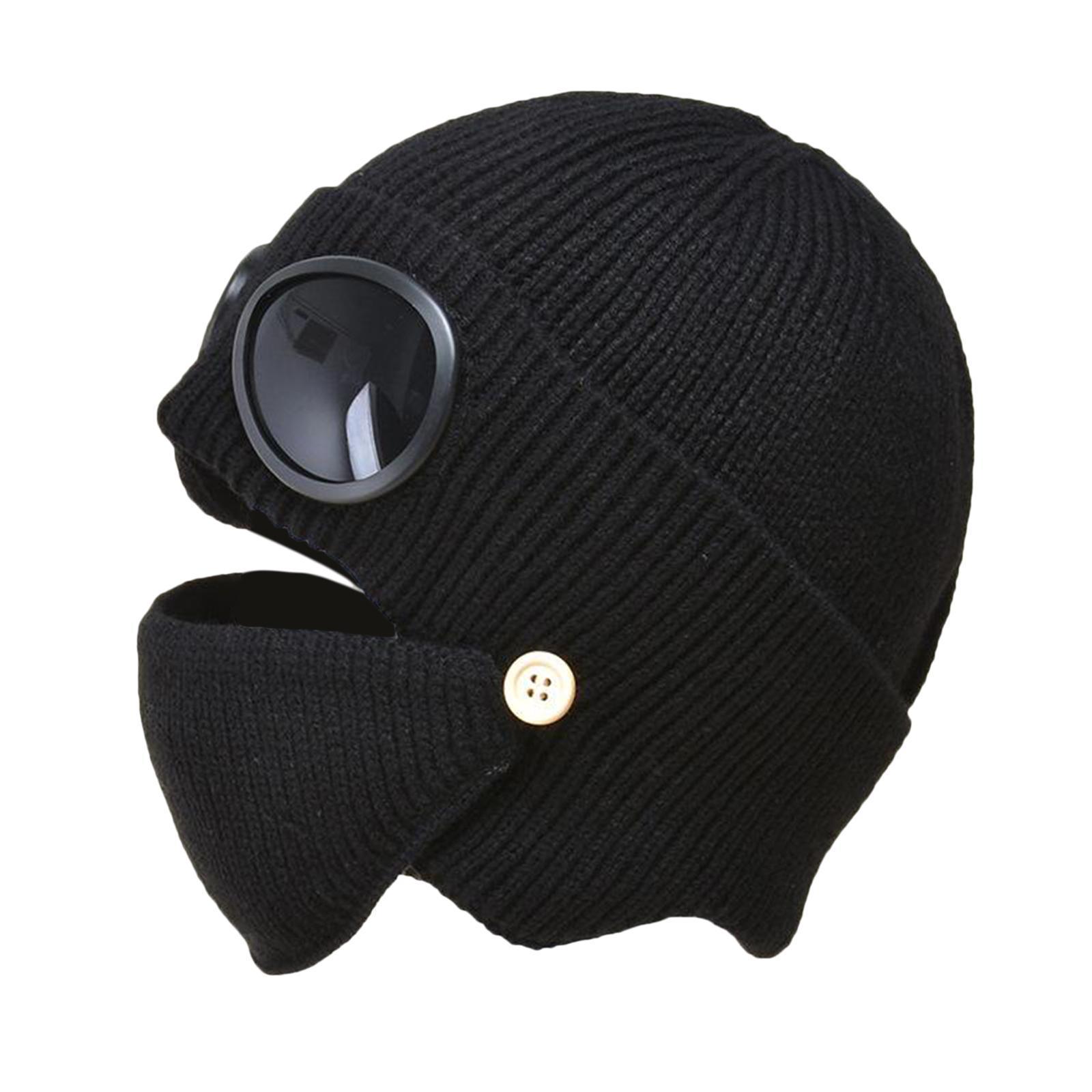 miniature 8 - Masque de tête de visage hiver bonnet chaud avec lunettes casquette d'oreille