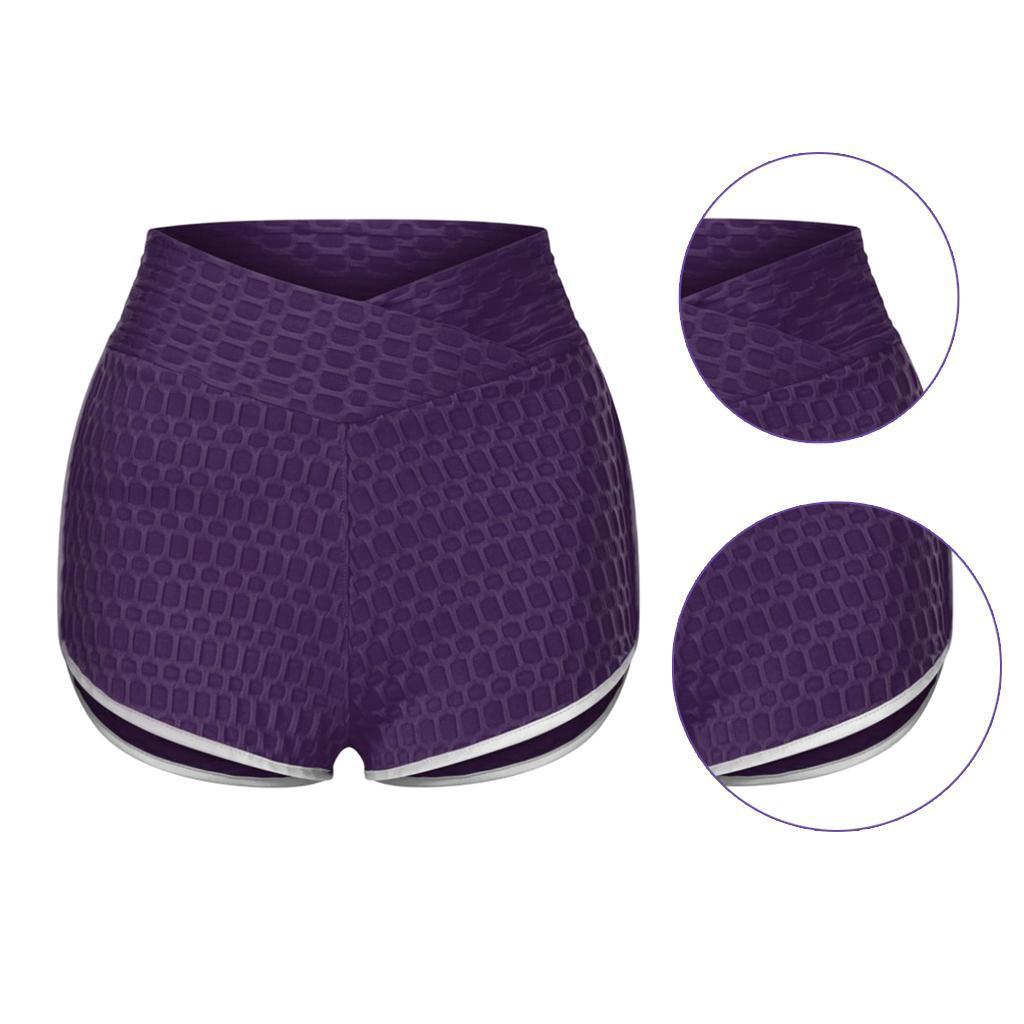 miniature 37 - Pantalons chauds femmes taille haute shorts de yoga fesses de levage Scrunch