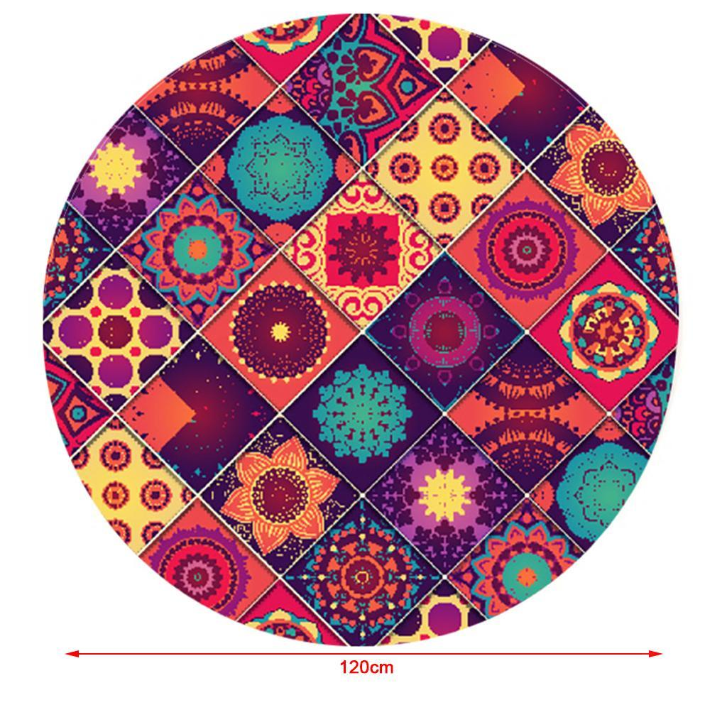 Polyester-Elastic-Fitted-Round-Tablecover-Table-Cloth-for-Home-Dinning-cafe thumbnail 49