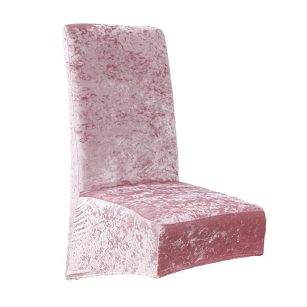 Housses-de-chaise-de-salle-a-manger-Housses-de-siege-coulissantes-en-velours miniature 15