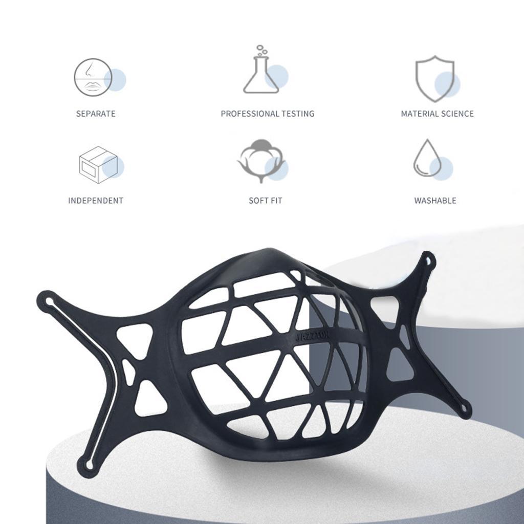 3D Mask Bracket Inner Support Frame for Cloth Mask More Space Black