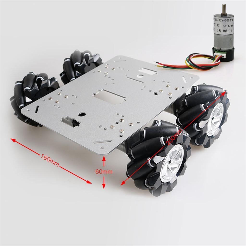 Omni-Directional-4WD-Car-Chassis-Smart-Robot-Car-Chasis-for-Mecanum-Kits thumbnail 4