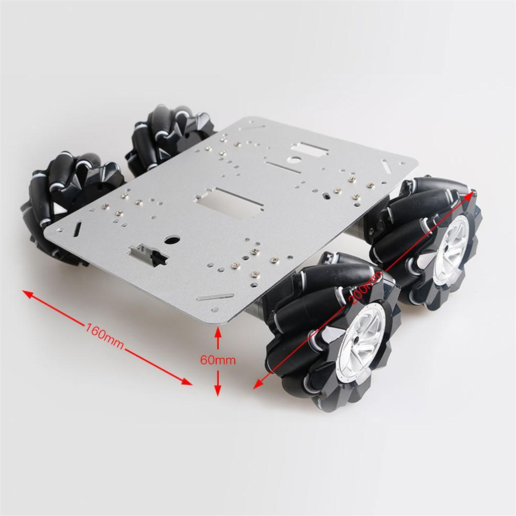 Omni-Directional-4WD-Car-Chassis-Smart-Robot-Car-Chasis-for-Mecanum-Kits thumbnail 6