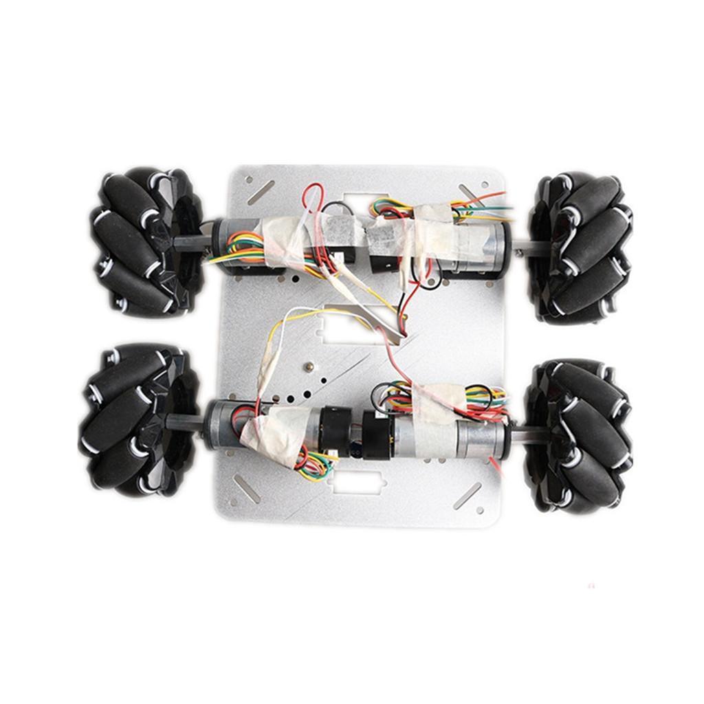 Omni-Directional-4WD-Car-Chassis-Smart-Robot-Car-Chasis-for-Mecanum-Kits thumbnail 7