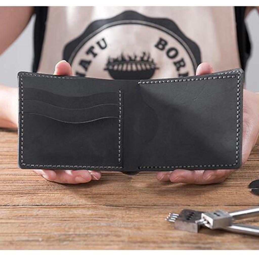 Lederverarbeitung-DIY-Geldboerse-Portemonnaie-Muster-und-Material-Kit-mit Indexbild 7